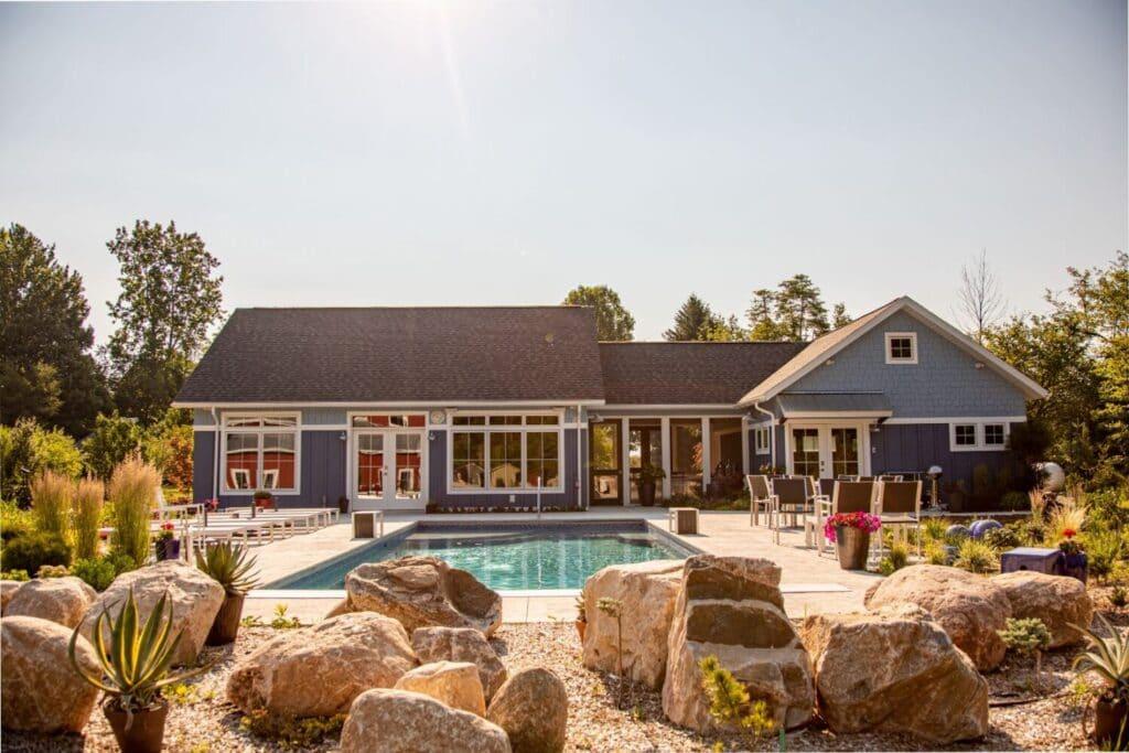 Poolhouse Oasis Custom Home